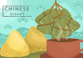 Chinese Dumplings Vector - бесплатный vector #443607