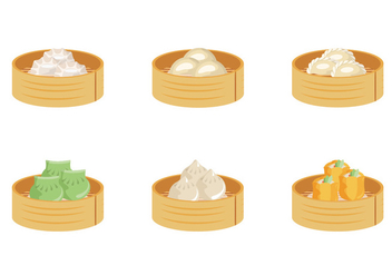 Dumplings Box Vector Collection - vector gratuit #443627