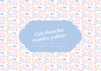 Vector Cute Branches Background - vector gratuit #443647