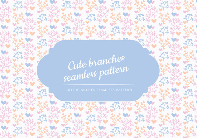 Vector Background Branches mignon - vector gratuit #443647