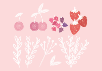 Vector Hand Drawn Fruits - бесплатный vector #443657