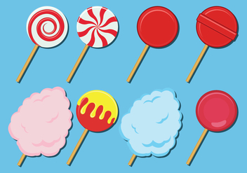 Sweet Candies Vector Icons - Kostenloses vector #443697