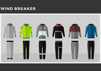 Windbreaker Model Free Vector - vector gratuit #443707