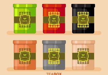 Tea Box Vector - vector gratuit #443857