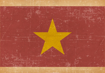Grunge Flag of Vietnam - vector #443887 gratis