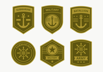Marine Corps Badge Collection - Free vector #443907