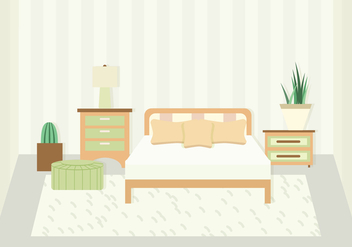 Bedroom Vector Illustration - бесплатный vector #443947
