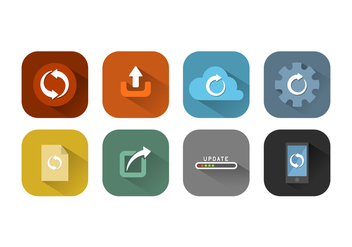 Free Update Icon Vector Collection - vector #443977 gratis