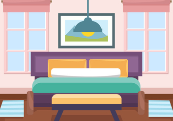 Decorative Interior Room Vector - Free vector #443997