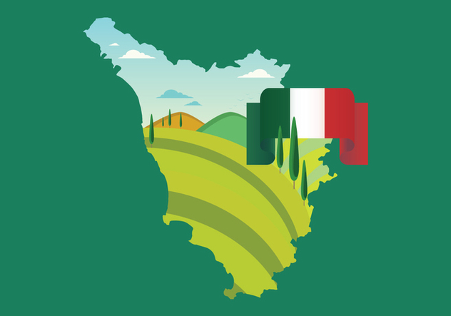 Tuscany Map Vector - Free vector #444007