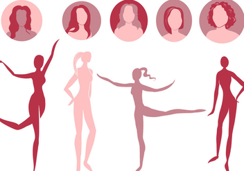 Free Woman Silhouettes 2 Vectors - Kostenloses vector #444037