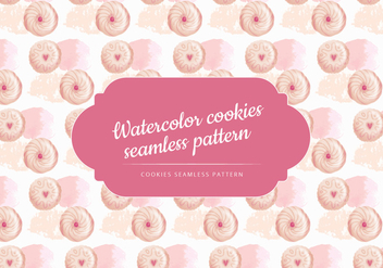 Vector Watercolor Biscuits Pattern - бесплатный vector #444067