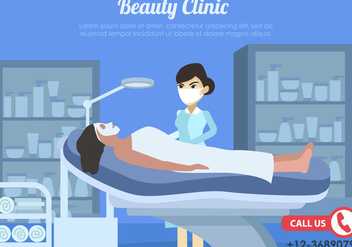 Woman Treatment In Beauty Clinic - Kostenloses vector #444107