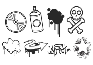 Free Graffiti Vector Pack - бесплатный vector #444117