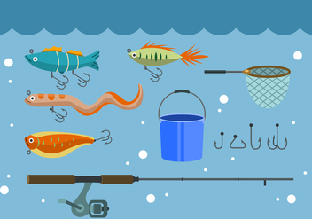 Free Fishing Vector Icons - vector #444127 gratis
