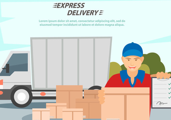 Delivery Man Services - vector #444137 gratis