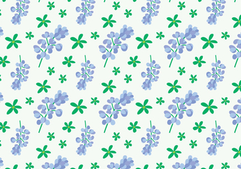 Bluebonnet Flower Pattern - Free vector #444147