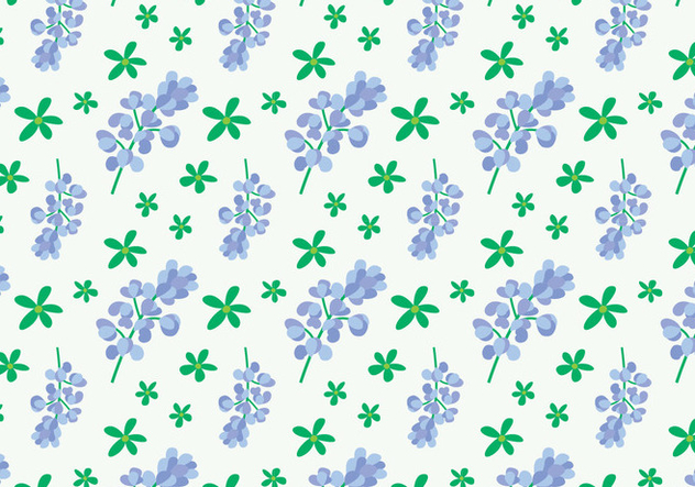 Bluebonnet Flower Pattern - vector gratuit #444147