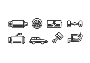 Car accessory vector icons - vector gratuit #444157