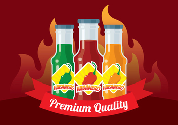 Habanero Sauce Background - бесплатный vector #444227