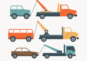 Towing Truck Simple Illustration - Free vector #444237