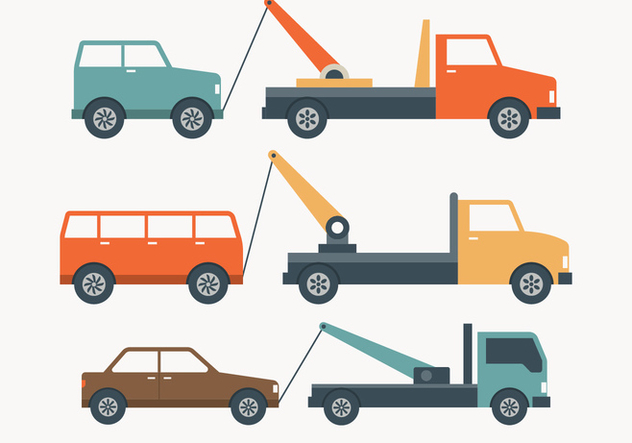 Towing Truck Simple Illustration - vector #444237 gratis