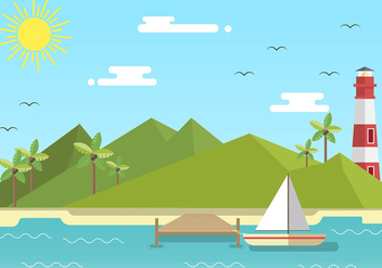 Boardwalk Flat Free Vector - бесплатный vector #444327