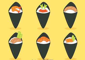 Nice Temaki Collection Vectors - Free vector #444337