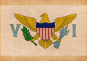 Old Grunge Flag of US Virgin Islands - Free vector #444427