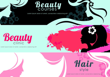 Beauty Flyer Banner Vectors - vector gratuit #444437