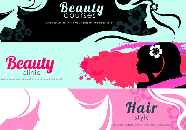 Beauty Flyer Banner Vectors - vector #444437 gratis