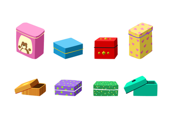 Sweet Tin Box Free Vector - Free vector #444447