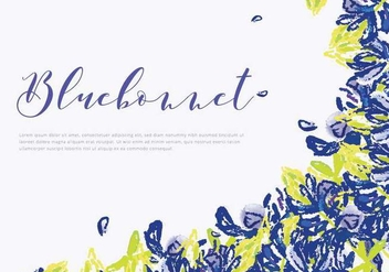 Bluebonnet Invitation Card Vector - Kostenloses vector #444507