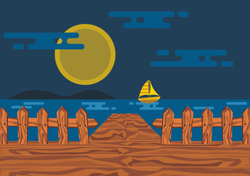 Boardwalk Vector Design - Free vector #444567