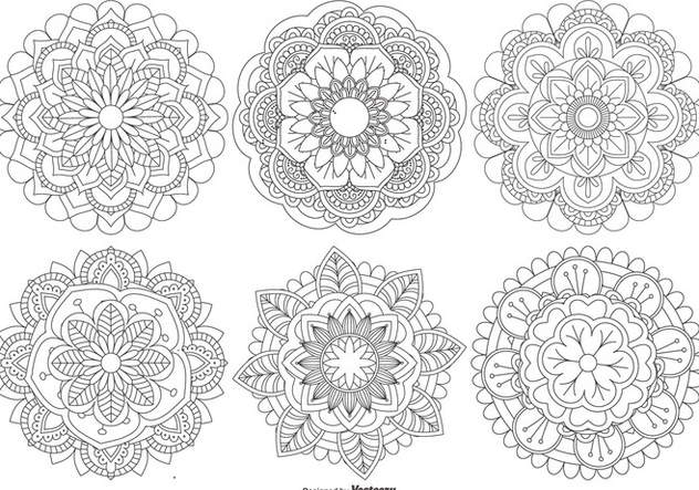 Beautiful Mandala Shapes Collection - Free vector #444597