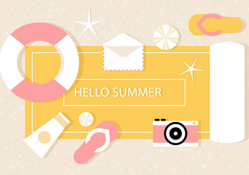 Free Vector Summer Illustration - Kostenloses vector #444607