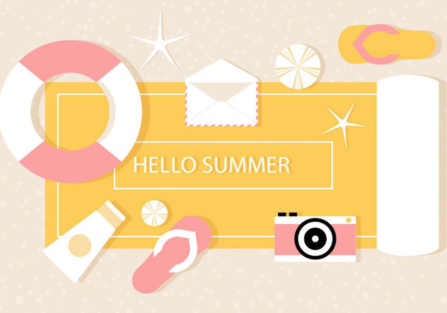 Free Vector Summer Illustration - vector gratuit #444607