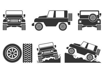 Offroad Car Vectors Set - Kostenloses vector #444777