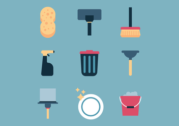 Set Of Cleaning Stuff - Kostenloses vector #444817