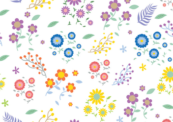 Seamless Ditsy Floral Pattern - Free vector #444937
