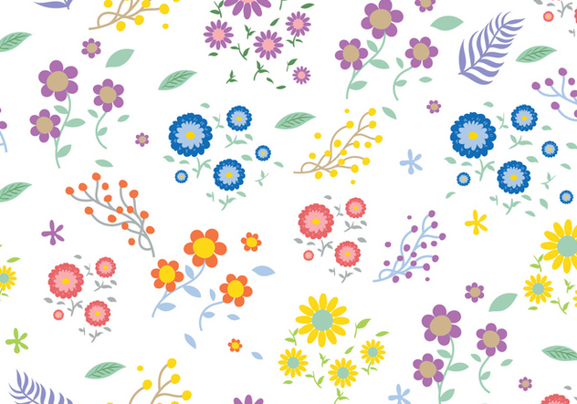 Seamless Ditsy Floral Pattern - vector gratuit #444937