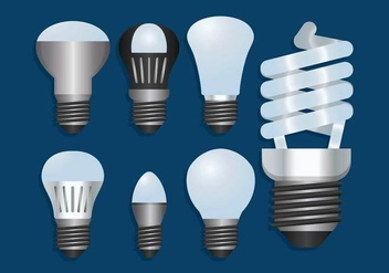 LED lights vector set - vector gratuit #444957
