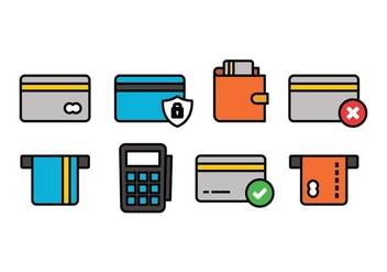 Credit Card Icon Set - vector gratuit #444997