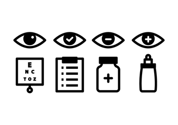 Optometry Icon Pack - vector gratuit #445047
