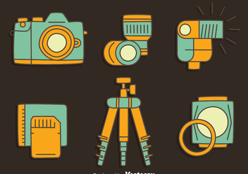 Camera Element Collection Vector - Kostenloses vector #445077
