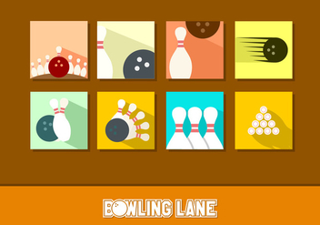 Flat Icon Bowling Free Vectors - Free vector #445107