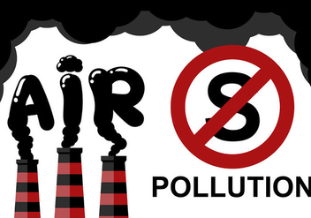 Stop Pollution Air Background Vector - Free vector #445177