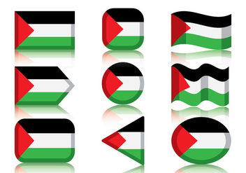 Palestine Flag - Free vector #445187