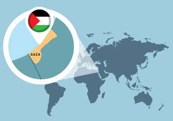 Palestine Map - vector #445237 gratis