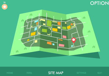Site Map Game Option Free Vector - vector #445267 gratis